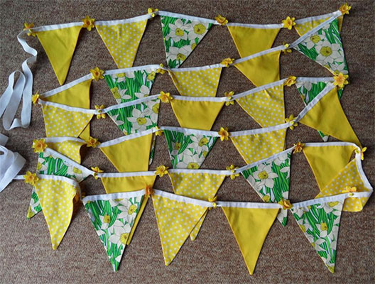 bunting specially made for marie curie fundraising