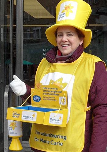 Julie Payne, Marie Curie fundraiser