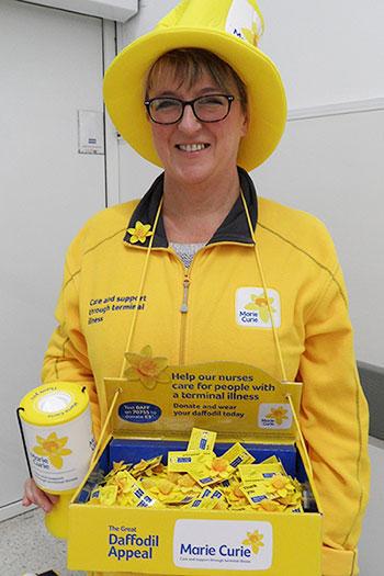 Liz Gordon of Brilliant Fish PR and Marie Curie Fundraiser