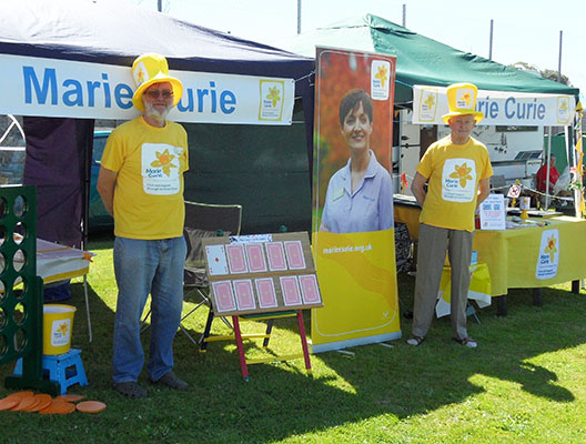 event stallholders for marie curie