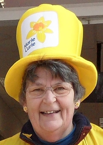 Val Sawdy Chair of Poole Marie Curie Fundraising Group