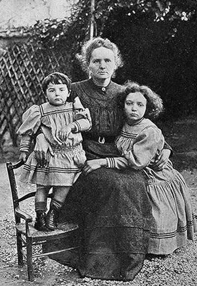 Eve, Marie and Irene Curie in 1908