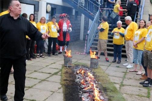 Fundraising firewalk