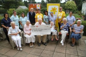 Milbrook House residents who raised money for Marie Curie Poole